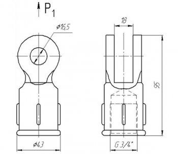 Ушко двухлапчатое 022-1