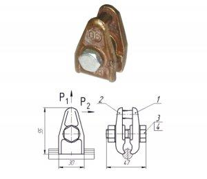 Зажим струновой усиленный 046-1