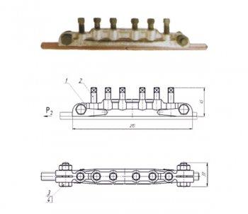 Зажим стыковой контактного провода 059-4
