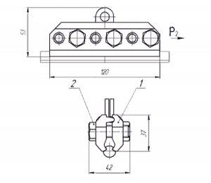 Зажим стыковой контактного провода 059-10